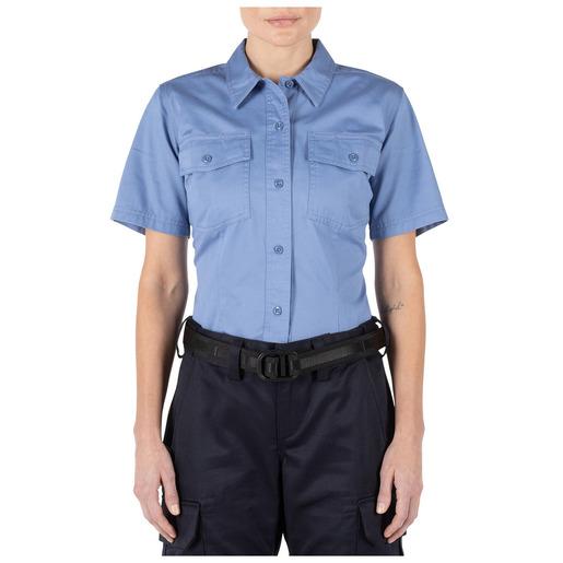 5.11 Women's Company Short Sleeve Shirt, Fire Med Blue