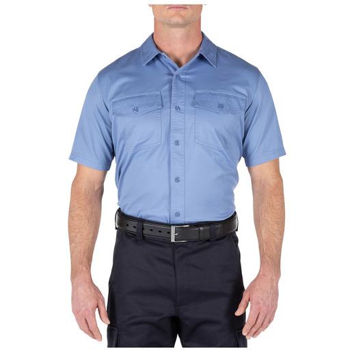 5.11 Men's Company Short Sleeve Shirt, Fire Med Blue