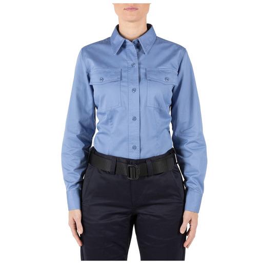 5.11 Women's Company Long Sleeve Shirt, Fire Med Blue