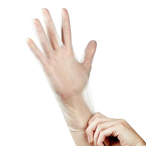 Curaplex® Vinyl Gloves, Clear