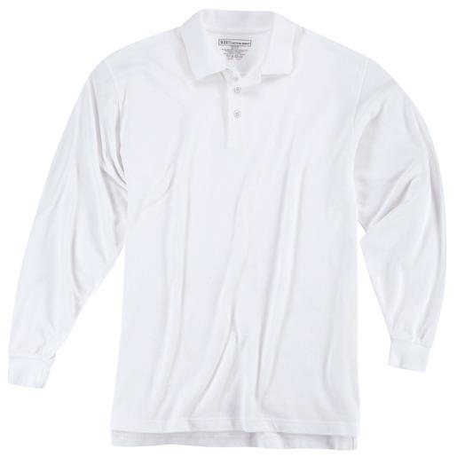 5.11 Men's Professional Long Sleeve Polo Shirt, White
