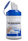 PDI Sani-Hands<sup>®</sup> Instant Hand Sanitizing Wipes, 135/tub