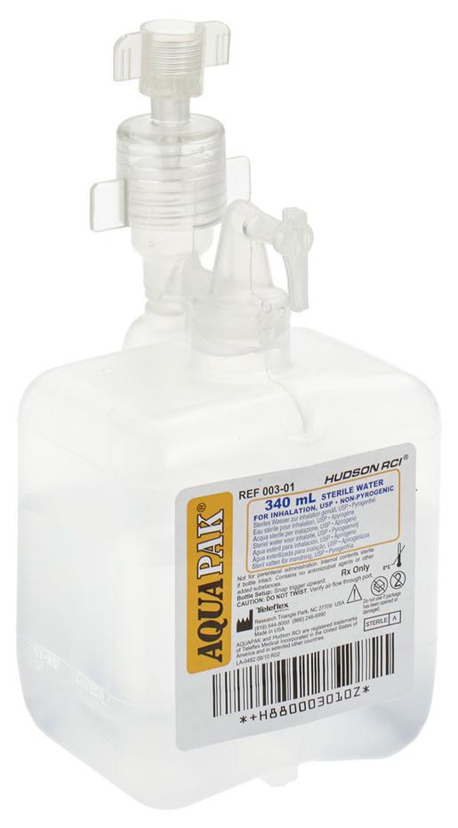 Hudson<sup>&reg;</sup> Disposable Aquapak Prefilled Bubble Humidifier, 340mL