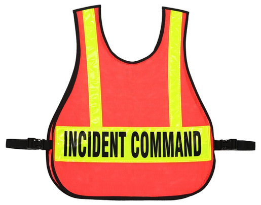 R&B Orange Safety Vest with Reflective Stripes, Triage