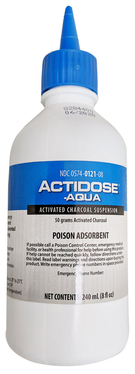 Paddock Actidose-Aqua<sup>™</sup> Activated Charcoal Bottles, 50g