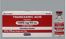 Tranexamic Acid Injection, 100mg/mL, 10mL Vial