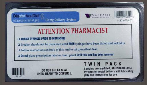 Xcel Diastat<sup>&reg;</sup> (Diazepam) Acudial Rectal Gel Kit, 10mg, 2-pack