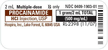 Procainamide (Pronestyl) Injection, MDV, 500mg/mL, 2mL Vial