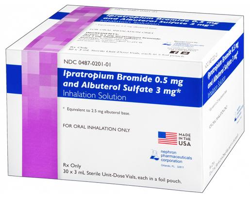 Ipratropium Bromide (0.5mg)/Albuterol Sulfate (3mg), Duo Dose, 3mL
