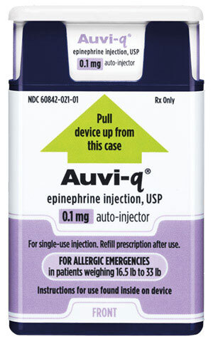 AUVI-Q Epinephrine Auto-injector, USP, Infant, 0.1mg