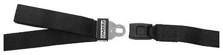 Ferno<sup>®</sup> 430 Series Restraint Straps with Metal Buckle, Nylon, Black, 1-piece Strap, 7'