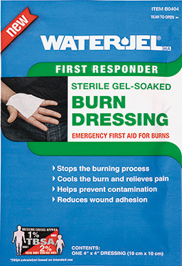 "Water-Jel Burn Dressing, Sterile, 4"" x 4"""