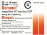Demerol<sup>®</sup> (Meperidine Hydrochloride), USP, 50mg/mL, 1mL Ampule