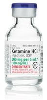 Ketamine Hydrochloride Injection, USP, CIII, 100mg/mL, 5mL Vial