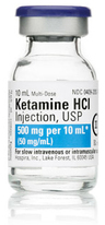 Ketamine Hydrochloride Injection, USP, CIII, 50mg/mL, 10mL Vial