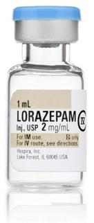 Lorazepam, USP, 2mg/mL, 1mL Fliptop Vial
