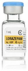 Lorazepam, USP, 4mg/mL, 1mL Fliptop Vial