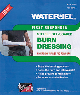 Water-Jel<sup>&reg;</sup> Burn Dressing, Sterile, 4&rdquo; x 16&rdquo;