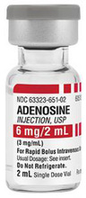 Adenosine (Adnocard) Injection, 3mg/mL, 6mg/2mL Vial