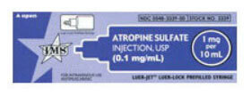 Prefilled Syringes, Luer Jet, Atropine Sulfate, 0.1mg/mL, 10mL