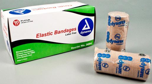 Dynarex<sup>®</sup> Elastic Bandages, 4&rdquo; x 4 1/2yd