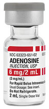 Adenosine (Adenocard) Injection, 3mg/mL, 2mL Vial