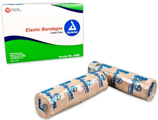 Dynarex<sup>&reg;</sup> Elastic Bandages, 6&rdquo; x 4 1/2yd