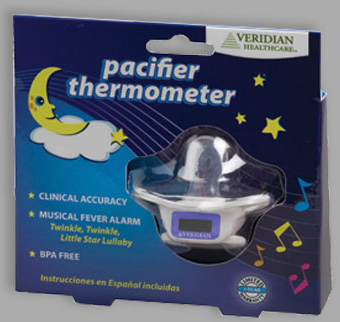 Veridian<sup>&reg;</sup> Digital Pacifier Thermometer, Musical Fever Alarm
