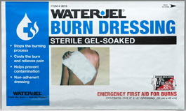 Water-Jel<sup>&reg;</sup> Burn Dressing, Mini-Wrap, 8&rdquo; x 18&rdquo;