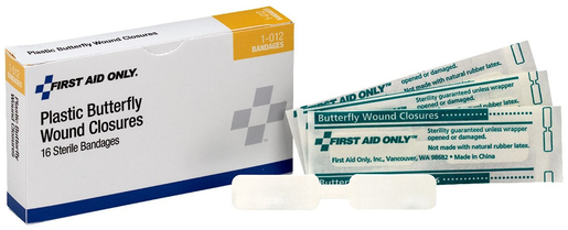 First Aid Only<sup>&reg;</sup> Pac-Kit Butterfly Wound Closures, Large