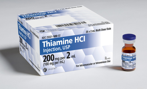 Sagent Pharmaceuticals Thiamine Hydrochloride Injection, USP 100mg/mL, 2mL Vial