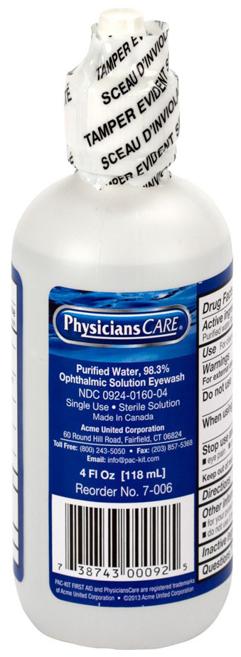 First Aid Only<sup>®</sup> PhysiciansCare Eye Wash Bottle, 4oz