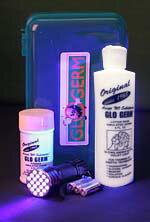 Glo Germ<sup>™</sup> Handwashing Training Kit with LED UV Flashlight and Gel