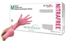 Ansell MICRO-TOUCH<sup>®</sup> NitraFree<sup>™</sup> Pink Nitrile Exam Gloves, Medium