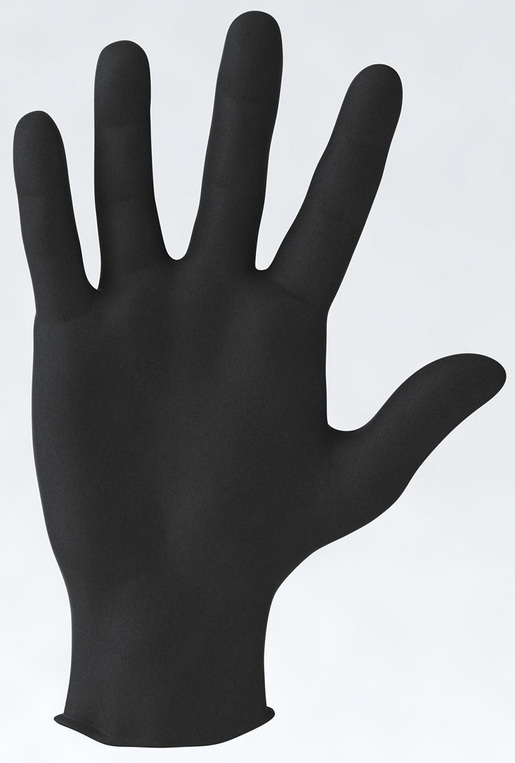 Nitrile 3.5 Exam Glove, Black, Large