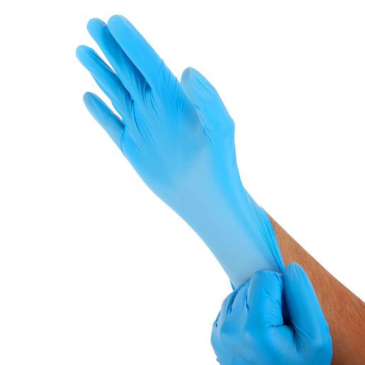 BASIC Medical Synmax Vinyl Nitrile Hybrid Exam Glove, Blue, X-Large