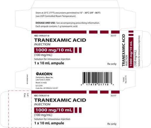 HF Acquisition Tranexamic Acid 100mg/mL, 10mL Vial