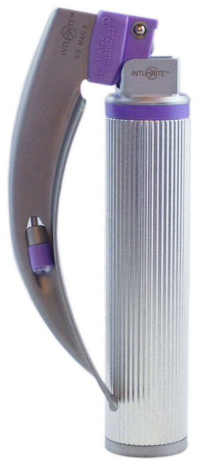 Intubrite<sup>®</sup> Disposable Laryngoscope Blade and Handle Combo, Dual LED