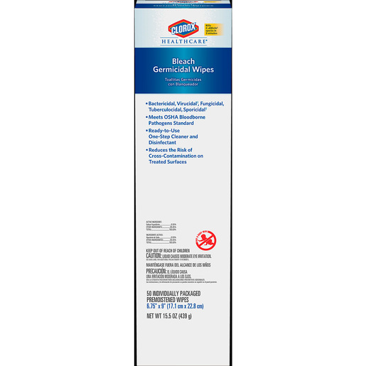 Clorox Healthcare® Bleach Germicidal Wipes *Non-Returnable and Non-Cancelable*