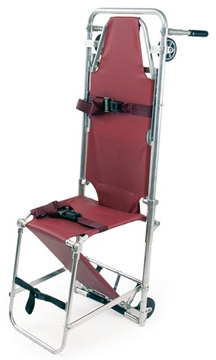 Ferno 107-C Combination Stretcher Chair with Backrest, Burgundy