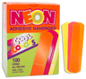 "Neon Adhesive Strip Bandages, 3/4"" x 3"""