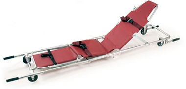 Ferno 107 Combination Stretcher/Stair Chair, Burgundy