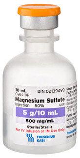 Magnesium Sulfate, 50%, 5g, 10mL Vial (Box)