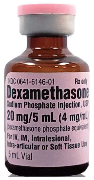 Dexamethasone (Decadron, Hexadrol), 20mg, 5mL Vial