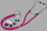 Veridian Sprague Rappaport-type Stethoscope, Magenta