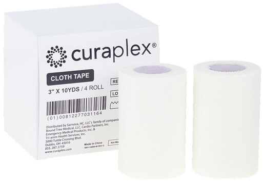 Curaplex<sup>®</sup> Cloth/Silk White Adhesive Tape, 10yd