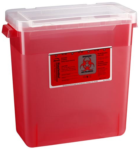 Bemis<sup>®</sup> Multi-purpose Sharps Container, 11gal, Red