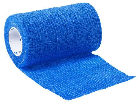 Curaplex<sup>®</sup> Cohesive Elastic Bandage, Blue, 4&rdquo; x 5yd