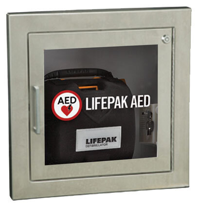 Physio Control AED Wall Cabinet for LifePak<sup>™</sup> 500, Surface Mount, Alarm