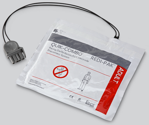 Physio Control Edge System<sup>™</sup> Electrodes with Quik-Combo<sup>&reg;</sup> Connector and Redi-Pak<sup>™</sup> Preconnect System